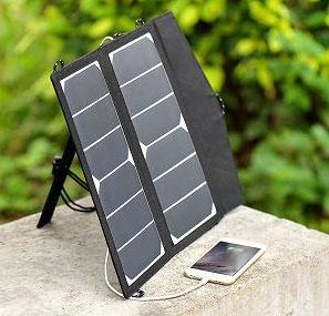 Solární přenosný panel 2 x 6 W