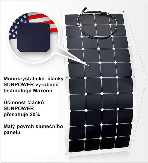 Flexibilní solární panel Flex 150W 24V