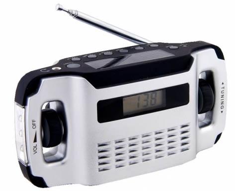 LYNX - AM / FM dynamo / solární rádio a lampa