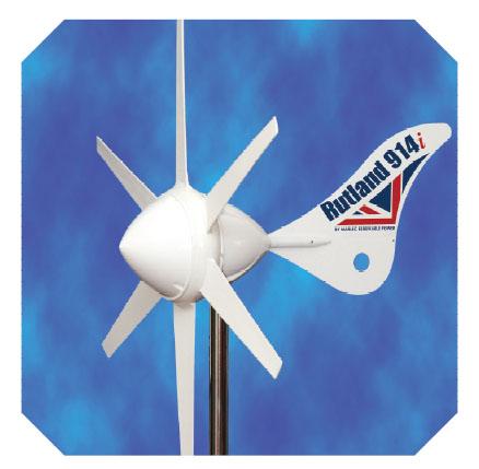 Malá větrná elektrárna Rutland 914i aplikace