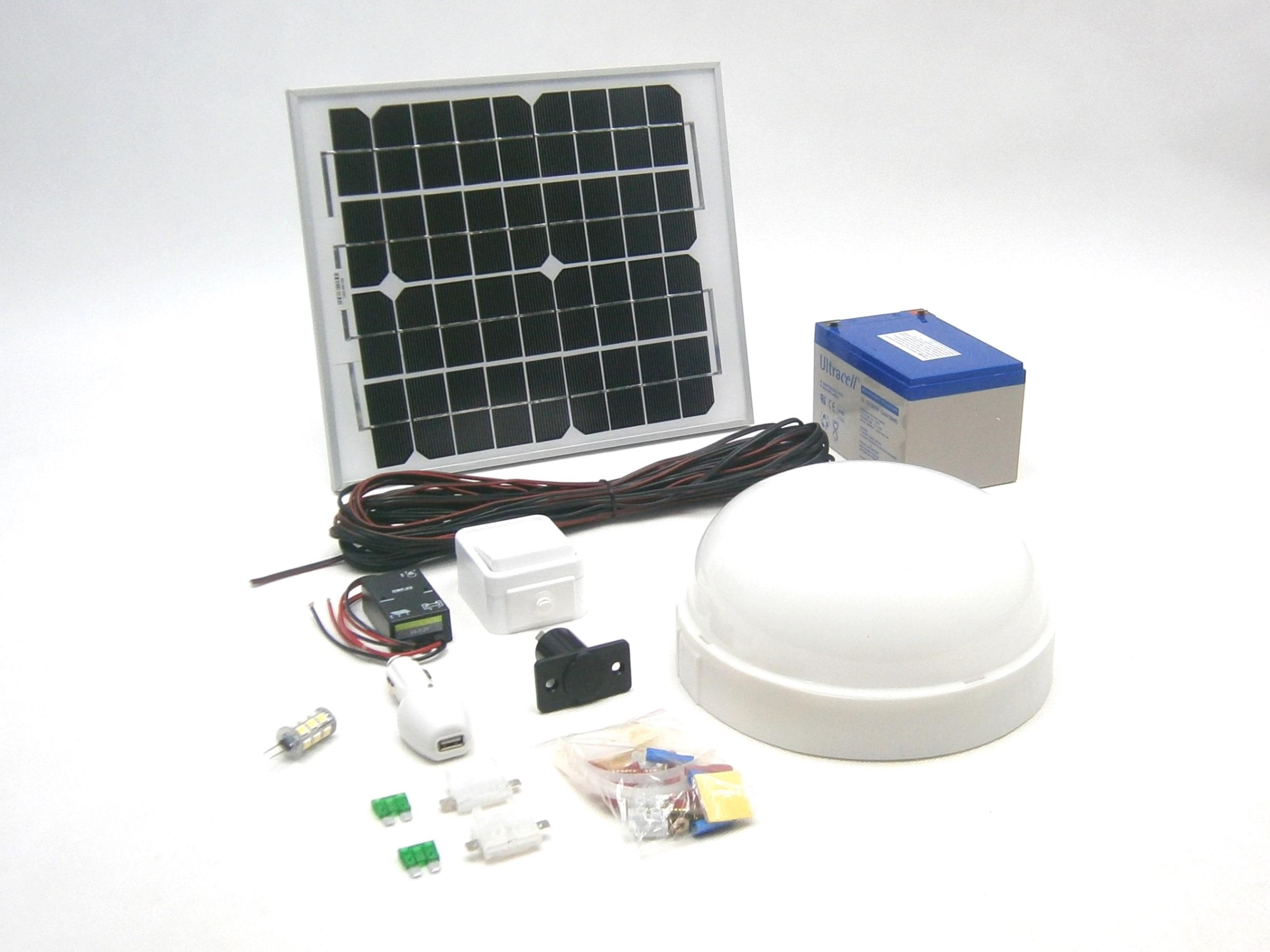 SO01 12V/ 10W solární systém