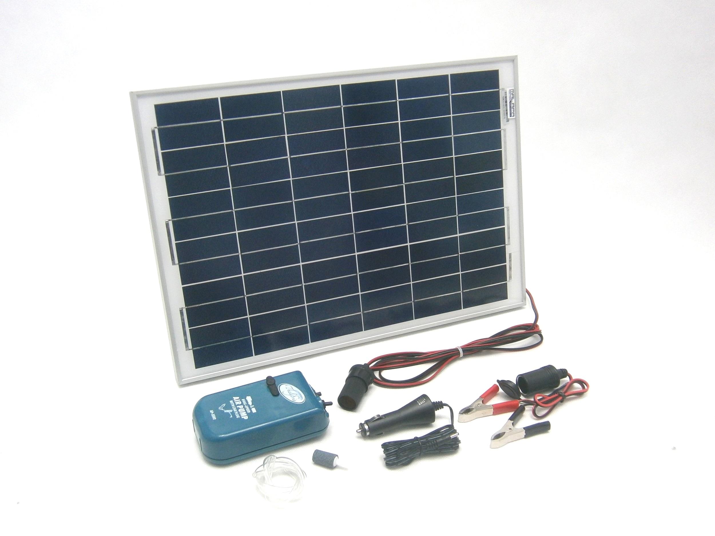 15W solární systém pro vzduchování 8l/ min, monokrystalický SO63