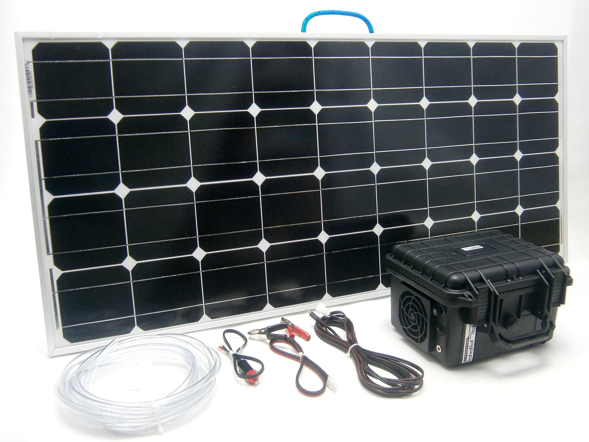 100W solární systém pro vzduchování 80l/ min, monokrystalický SO115