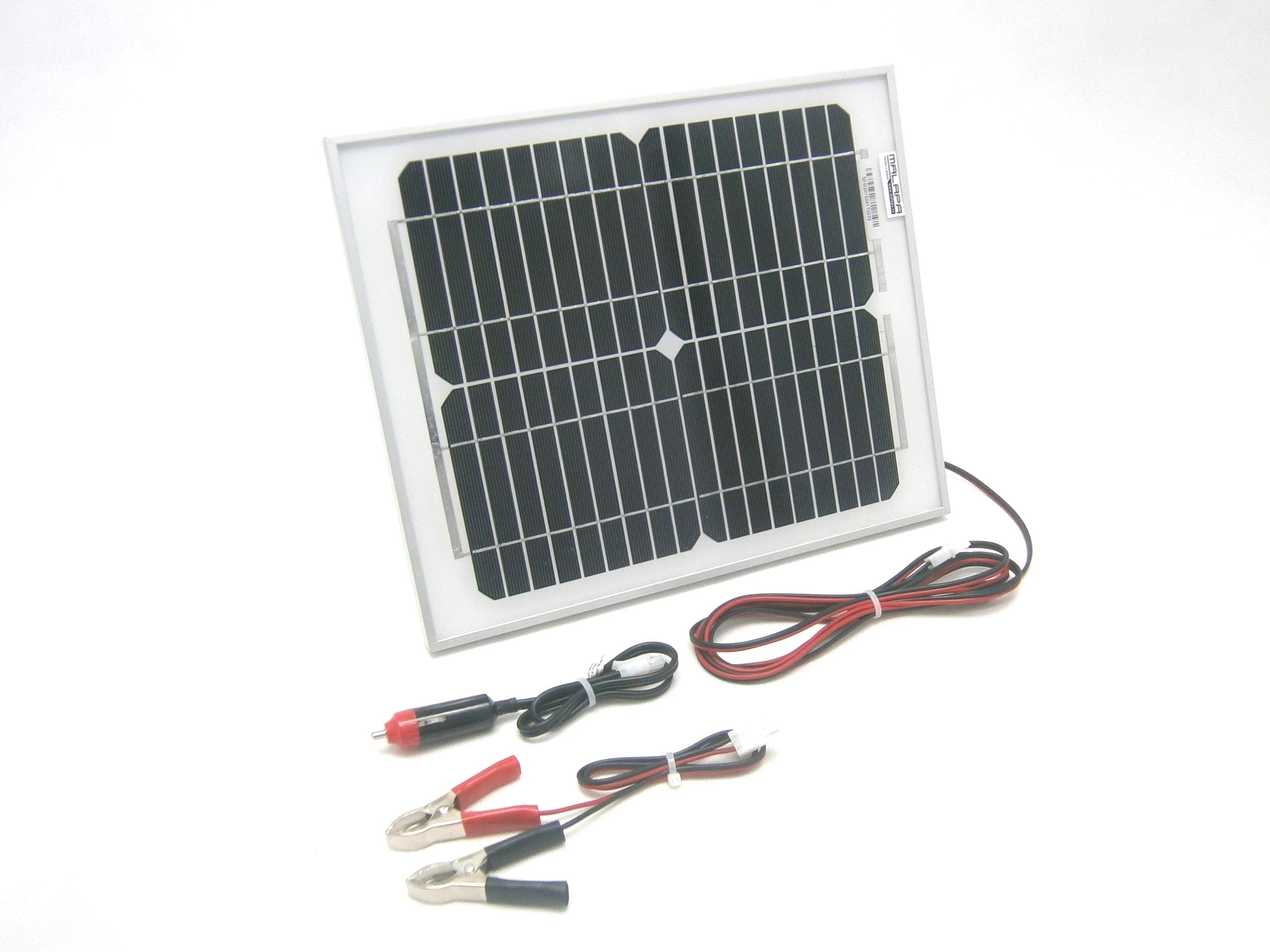 10W/ 12V solární nabíječka autobaterií, monokrystalická SO103
