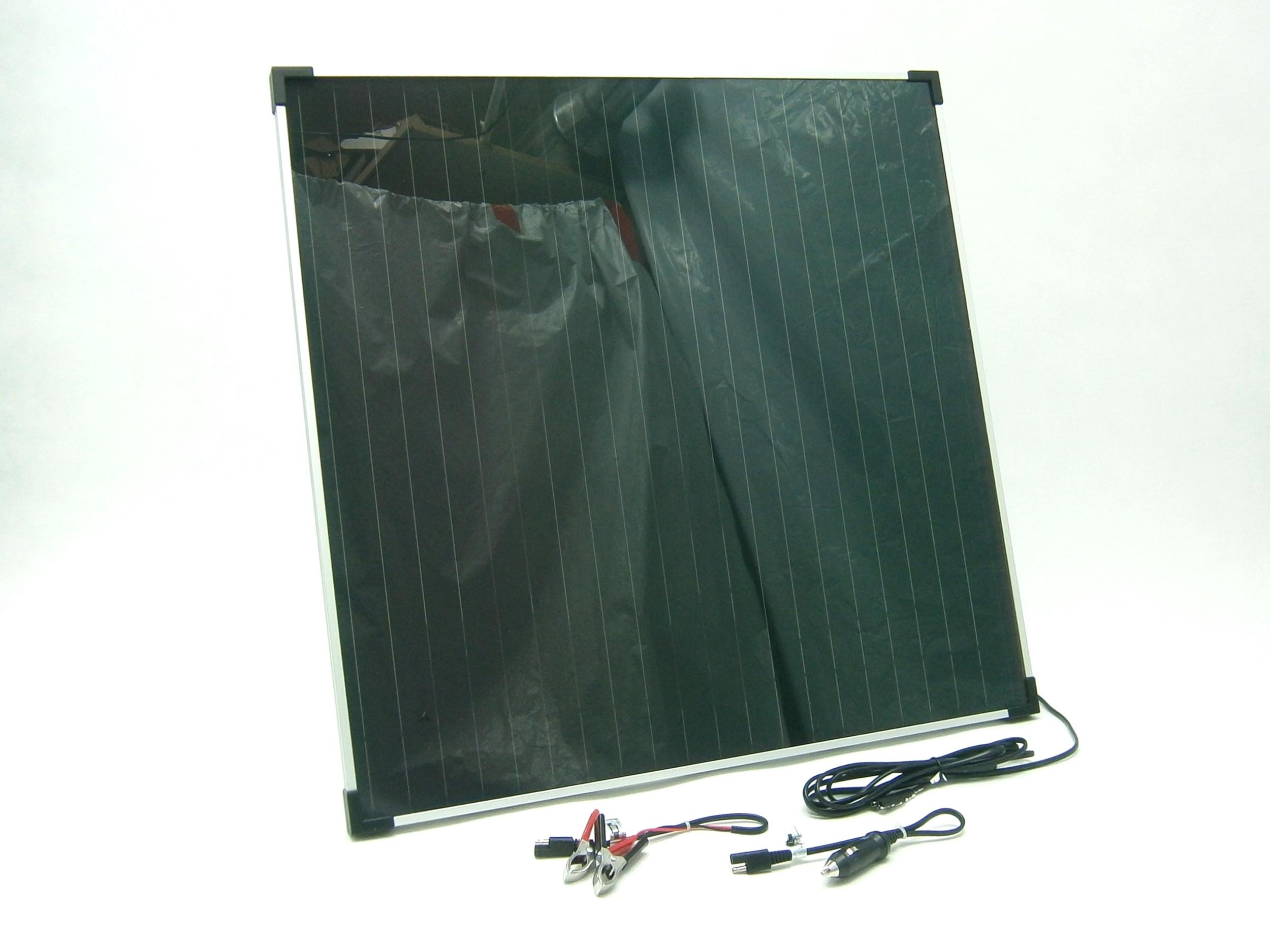 20W/ 12V solární nabíječka autobaterií, amorfní SO104