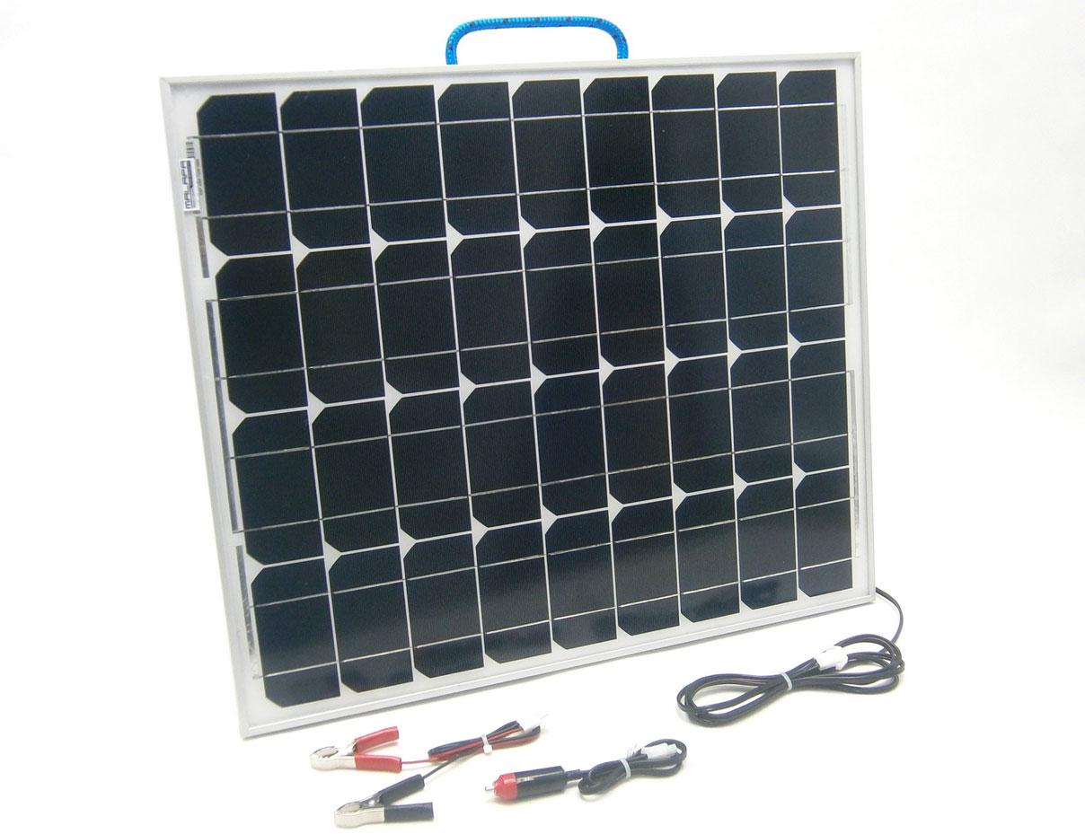 50W/ 12V solární nabíječka autobaterií, monokrystalická SO66