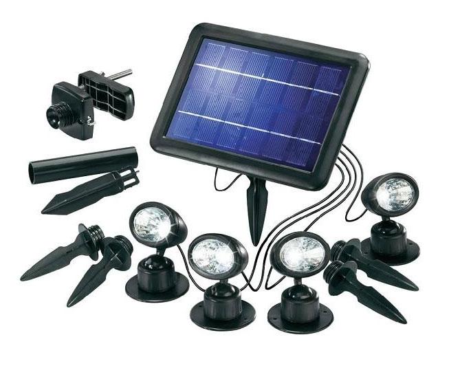 Solární bodové osvětlení Quattro Power