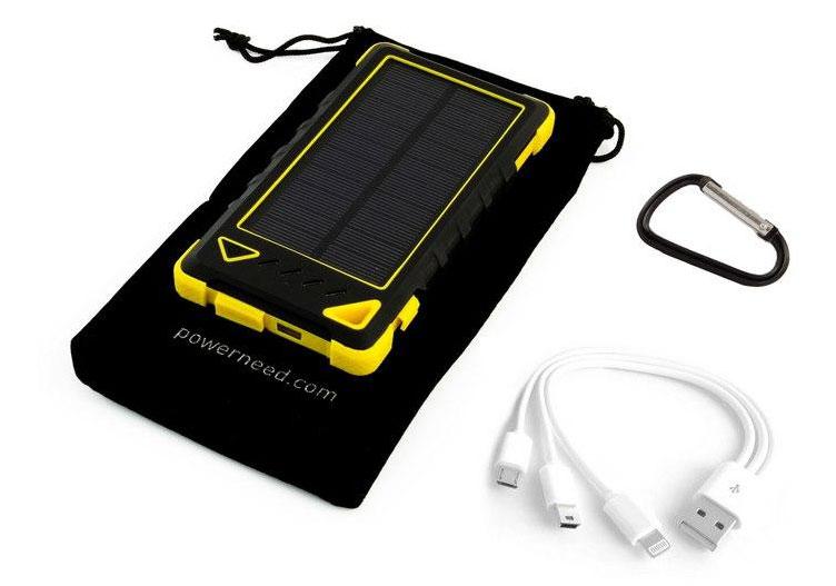 Solární nabíječka 1W 8000mAh žlutá