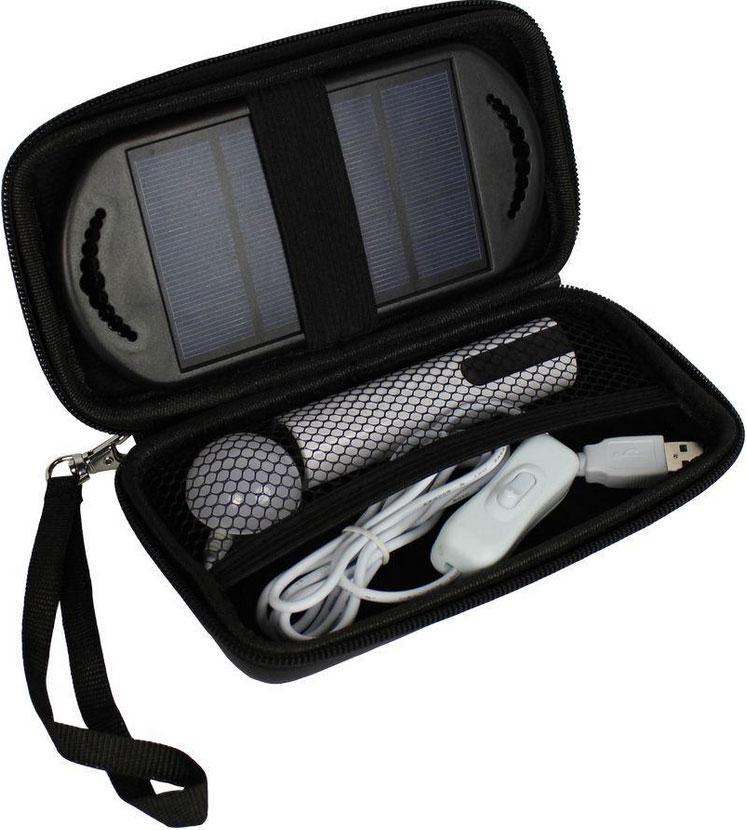 Přenosný solární LED systém s USB POWERplus Anaconda 2600mAh
